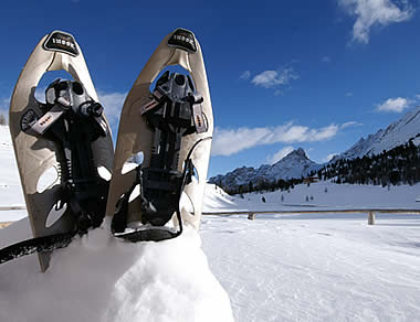 Snowshoeing in the natural parc of Fanes-Senes-Braies